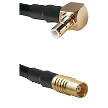 SMB Right Angle Male on RG142 to MCX Female Cable Assembly