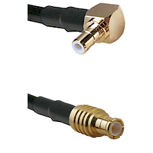 SMB Right Angle Male on RG142 to MCX Male Cable Assembly