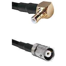 SMB Right Angle Male on RG142 to MHV Female Cable Assembly