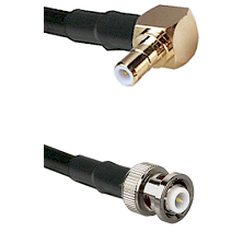 SMB Right Angle Male on RG142 to MHV Male Cable Assembly