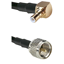SMB Right Angle Male on RG142 to Mini-UHF Male Cable Assembly