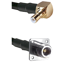 SMB Right Angle Male on RG142 to N 4 Hole Female Cable Assembly