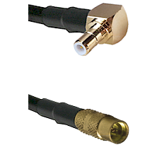 Right Angle SMB Male To MMCX Female Connectors RG188 Cable Assembly