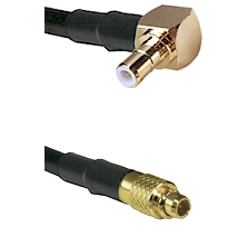 Right Angle SMB Male To MMCX Male Connectors RG188 Cable Assembly