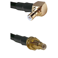 SMB Right Angle Male Connector On RG188A/U To SMC Male Bulkhead Connector Cable Assembly