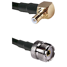 Right Angle SMB Male To UHF Female Connectors RG188 Cable Assembly