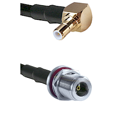 Right Angle SMB Male On RG400 To N Female Bulk Head Connectors Coaxial Cable
