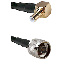 Right Angle SMB Male On RG400 To N Male Connectors Coaxial Cable
