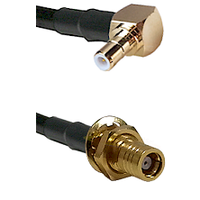 Right Angle SMB Male On RG400 To SMB Female Bulk Head Connectors Coaxial Cable
