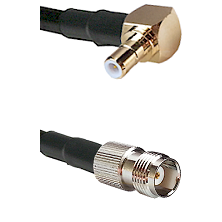 Right Angle SMB Male On RG400 To TNC Female Connectors Coaxial Cable