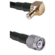 Right Angle SMB Male On RG400 To TNC Male Connectors Coaxial Cable