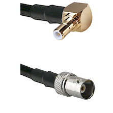 SMB Right Angle Male on RG58C/U to BNC Female Cable Assembly