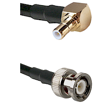 SMB Right Angle Male on RG58C/U to BNC Male Cable Assembly