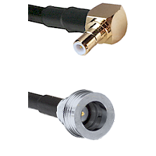 SMB Right Angle Male on RG58C/U to QN Male Cable Assembly