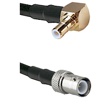 SMB Right Angle Male on RG58C/U to BNC Reverse Polarity Female Cable Assembly