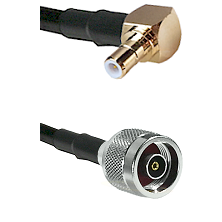 SMB Right Angle Male on RG58C/U to N Reverse Polarity Male Cable Assembly