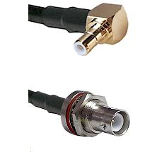 SMB Right Angle Male on RG58C/U to SHV Bulkhead Jack Cable Assembly