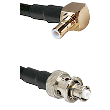 SMB Right Angle Male on RG58C/U to SHV Plug Cable Assembly