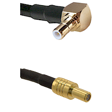 SMB Right Angle Male on RG58C/U to SLB Male Cable Assembly