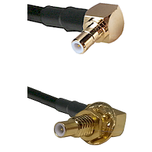 SMB Right Angle Male on RG58C/U to SLB Male Bulkhead Cable Assembly