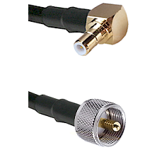 SMB Right Angle Male on RG58C/U to UHF Male Cable Assembly