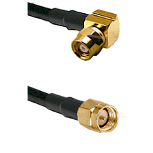 SMC Right Angle Female on Belden 83242 RG142 to SMA Male Cable Assembly