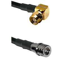 SMC Right Angle Female on LMR100 to QMA Male Cable Assembly