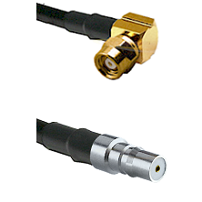 SMC Right Angle Female on LMR-195-UF UltraFlex to QMA Female Cable Assembly