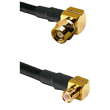 SMC Right Angle Female on LMR195 to MCX Right Angle Male Cable Assembly
