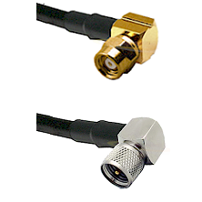 SMC Right Angle Female on LMR-195-UF UltraFlex to Mini-UHF Right Angle Male Cable Assembly