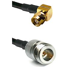 SMC Right Angle Female on LMR-195-UF UltraFlex to N Reverse Polarity Female Cable Assembly