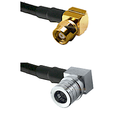 SMC Right Angle Female on LMR-195-UF UltraFlex to QMA Right Angle Male Cable Assembly