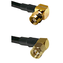 SMC Right Angle Female on LMR-195-UF UltraFlex to SMA Right Angle Male Cable Assembly