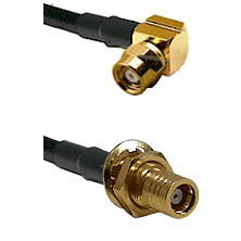 SMC Right Angle Female on LMR-195-UF UltraFlex to SMB Female Bulkhead Cable Assembly