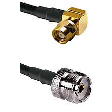 SMC Right Angle Female on LMR-195-UF UltraFlex to UHF Female Cable Assembly