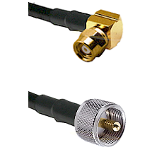SMC Right Angle Female on LMR-195-UF UltraFlex to UHF Male Cable Assembly