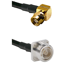 SMC Right Angle Female on LMR200 UltraFlex to 7/16 4 Hole Female Cable Assembly