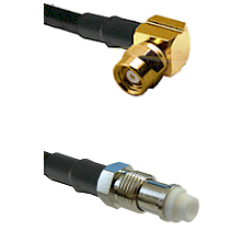 SMC Right Angle Female on LMR200 UltraFlex to FME Female Cable Assembly