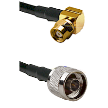 SMC Right Angle Female on LMR200 UltraFlex to N Male Cable Assembly