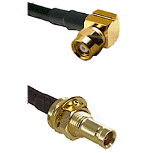 SMC Right Angle Female on RG142 to 10/23 Female Bulkhead Cable Assembly