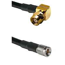 SMC Right Angle Female on RG142 to 10/23 Male Cable Assembly