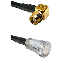 SMC Right Angle Female on RG142 to 7/16 Din Female Cable Assembly