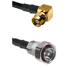 SMC Right Angle Female on RG142 to 7/16 Din Male Cable Assembly