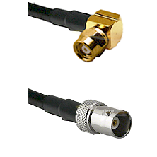SMC Right Angle Female on RG142 to BNC Female Cable Assembly