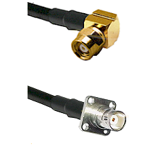 SMC Right Angle Female on RG142 to BNC 4 Hole Female Cable Assembly