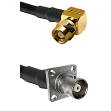 SMC Right Angle Female on RG142 to C 4 Hole Female Cable Assembly