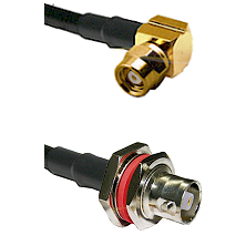 SMC Right Angle Female on RG142 to C Female Bulkhead Cable Assembly