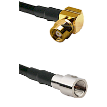 SMC Right Angle Female on RG142 to FME Male Cable Assembly