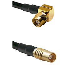 SMC Right Angle Female on RG142 to MCX Female Cable Assembly