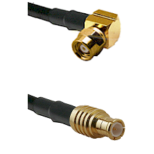 SMC Right Angle Female on RG142 to MCX Male Cable Assembly